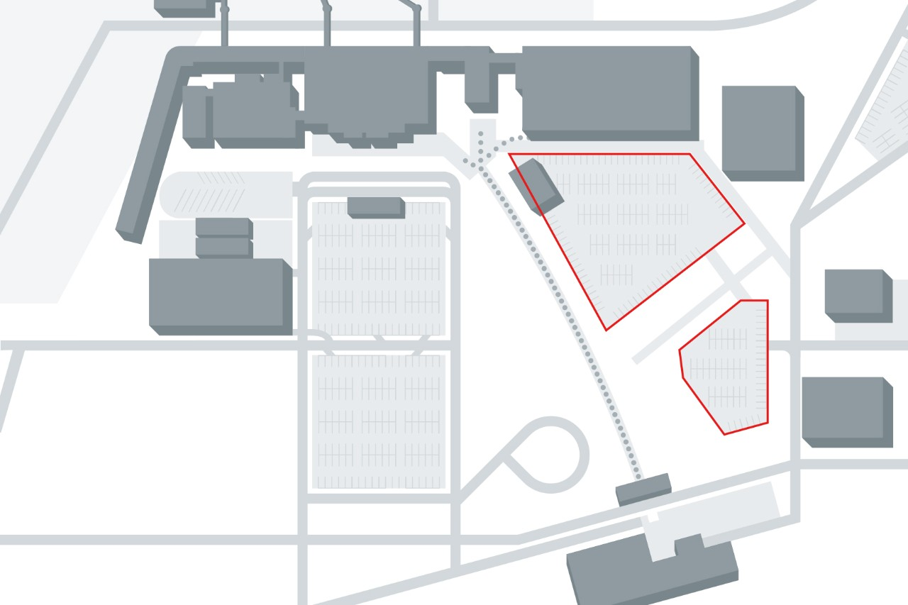 Site plan parking spaces P56 T5