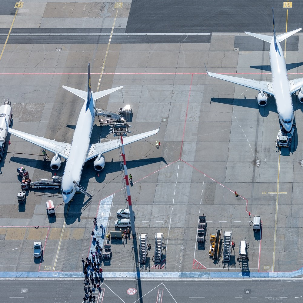 Aircrafts on the apron