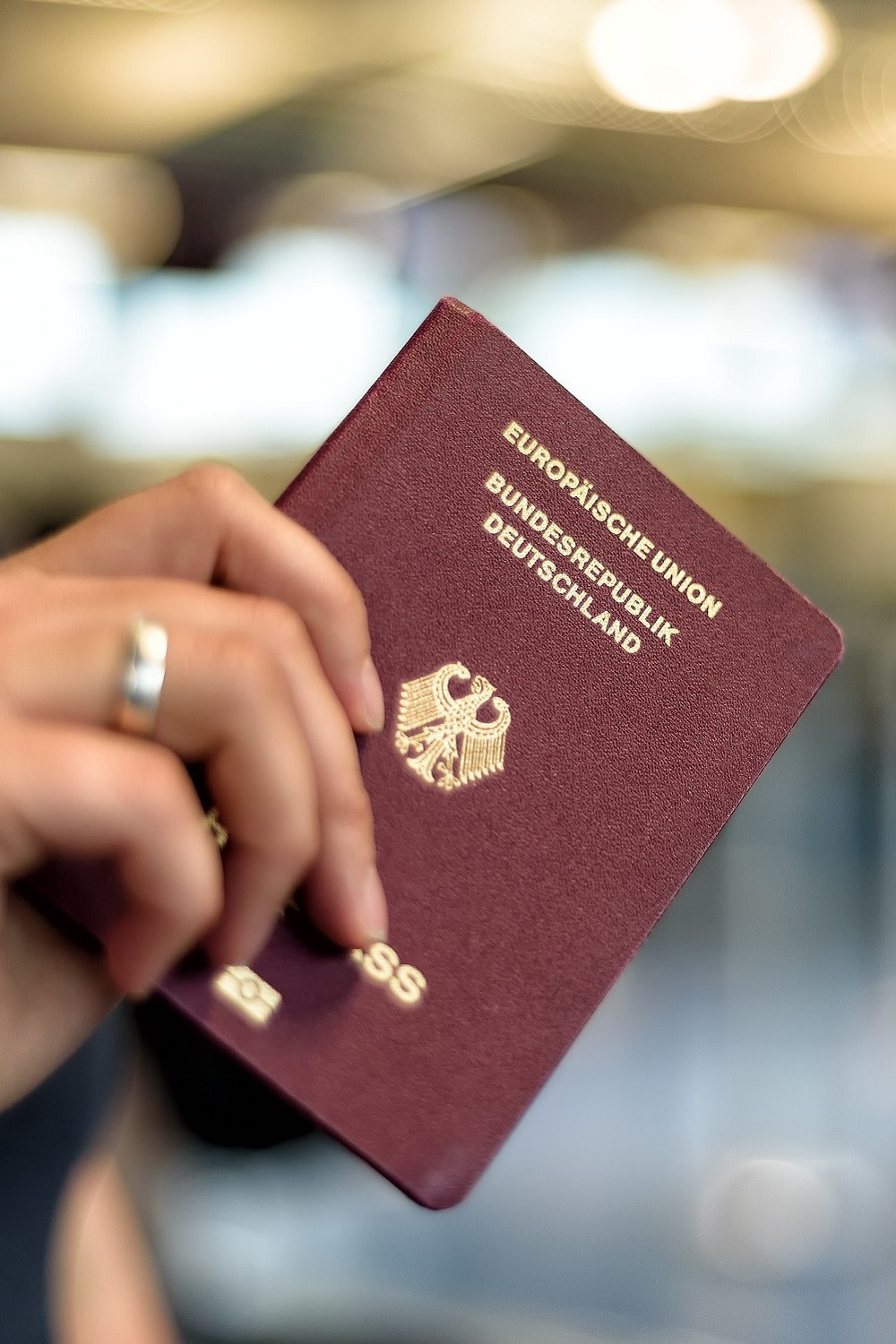 Person with passport
