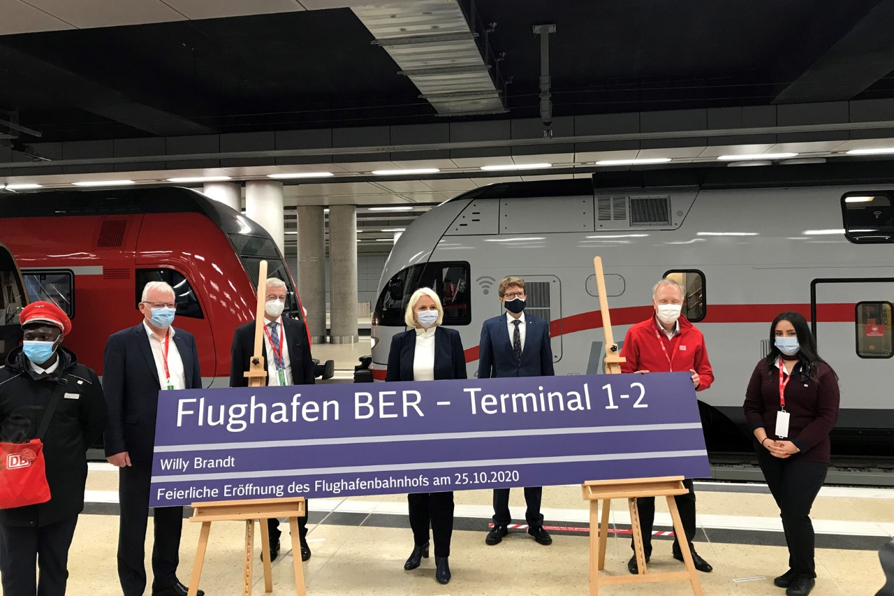 "Opening of the train station ""Airport BER - Terminal 1-2"""