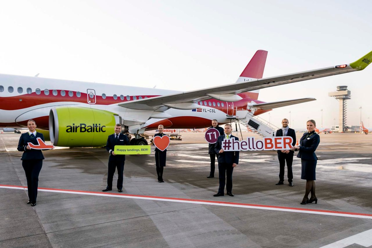 #helloBER from the Latvian airline on November 8.