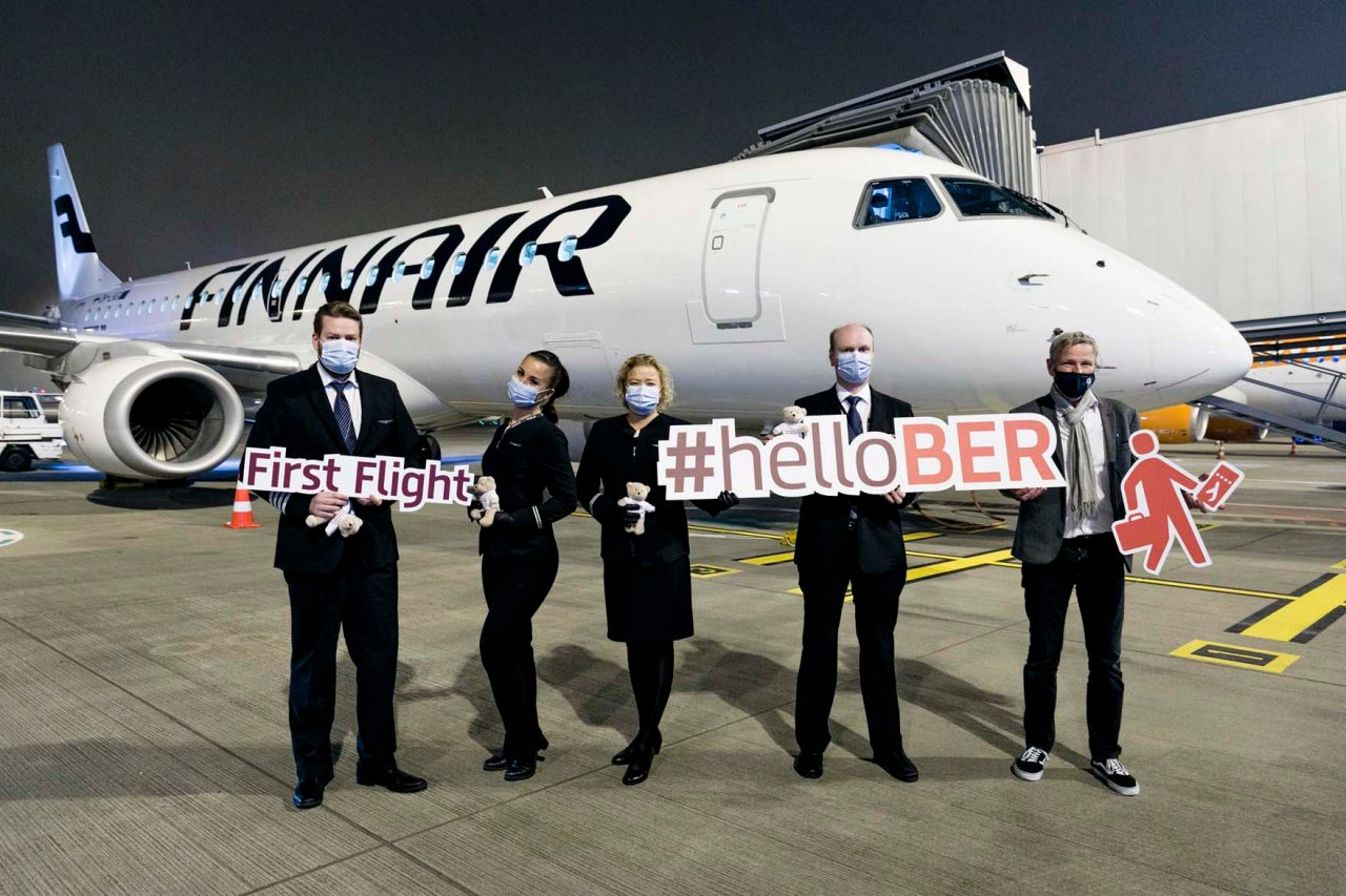 A warm welcome to Finnair, which will in future be located at Terminal 1 of BER.