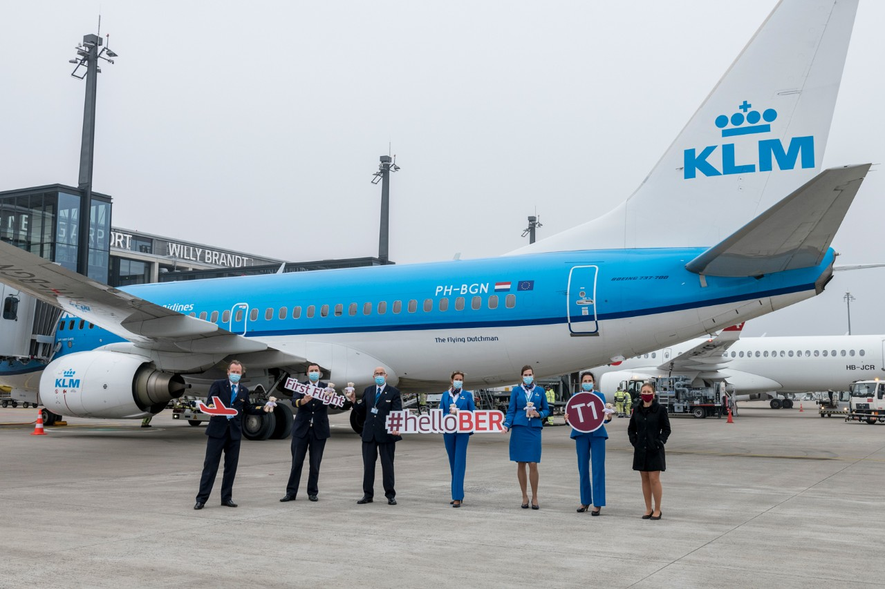 KLM at BER Terminal 1 for the first time
