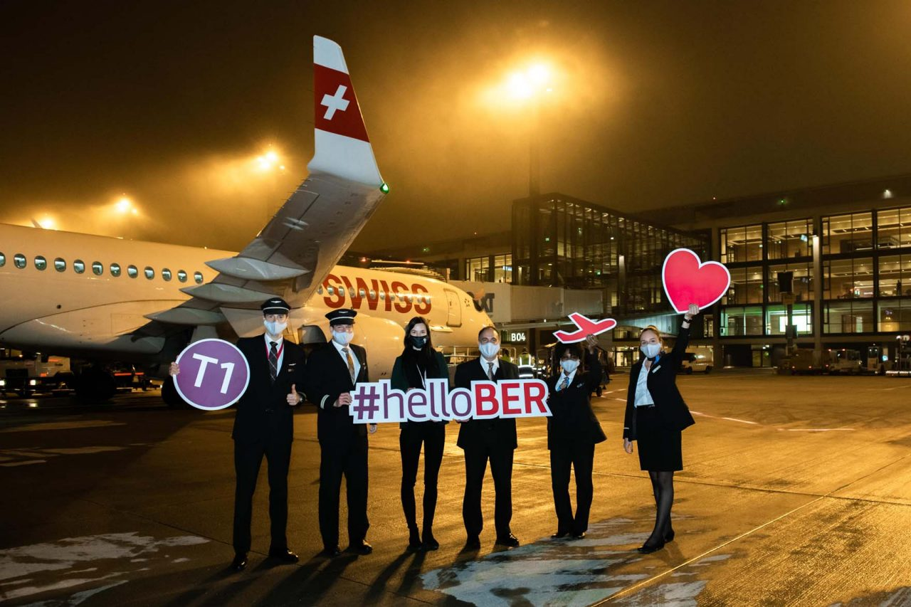 The Lufthansa subsidiary Swiss Airlines has also been flying from Terminal 1 of BER since 8 November.