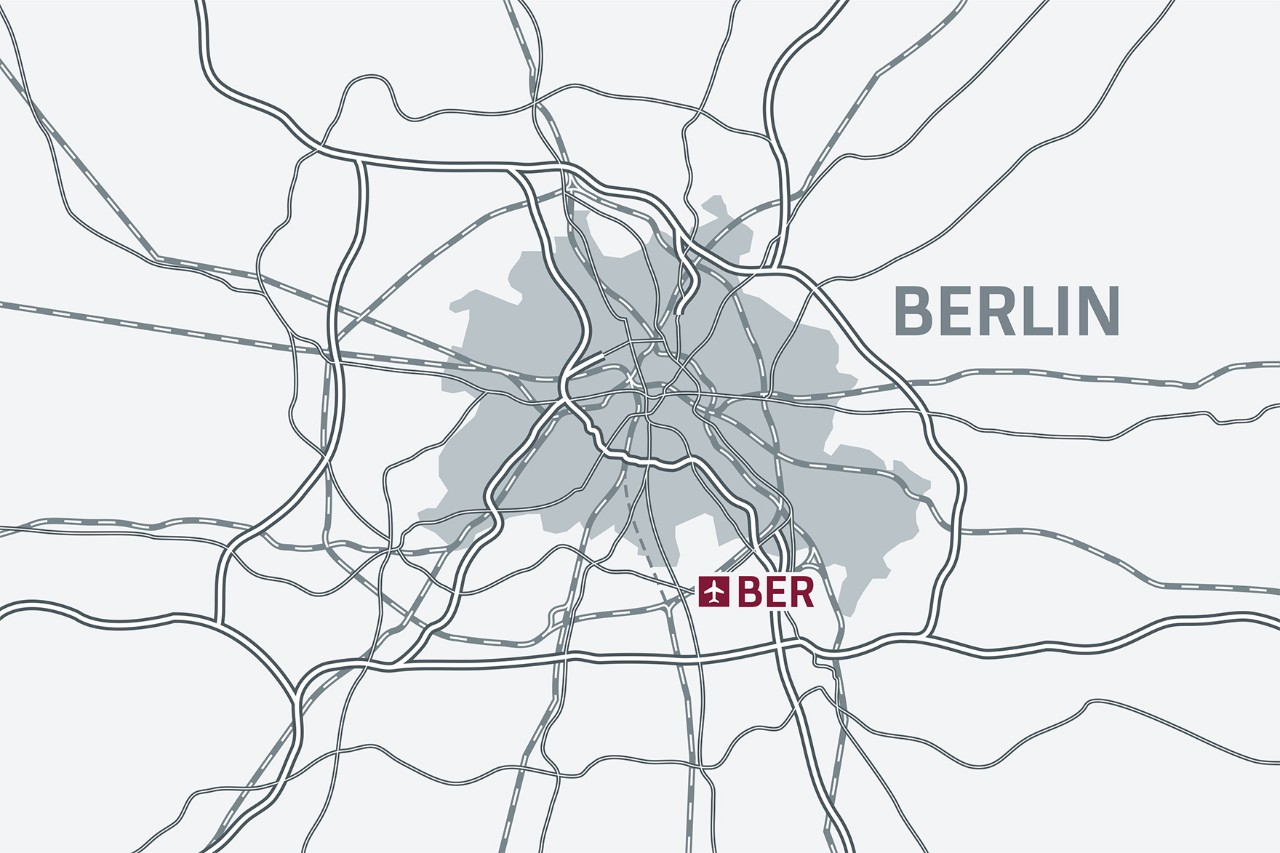 If travelling by car, the BER terminals are easy to reach via the A113 and the B96a.