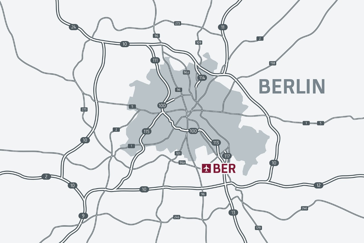 Location of BER on the map